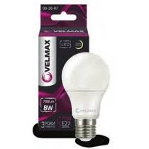 Купить LED Лампа VELMAX A60 8W E27 3000K 700Lm 00-20-07
