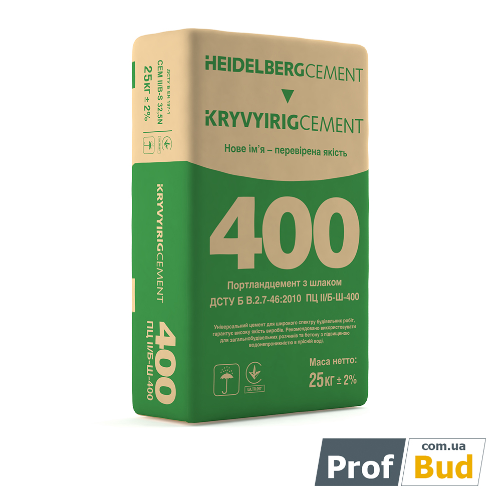 Купить Цемент ПЦ 400, 25 кг Кривой Рог