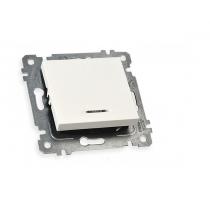 Купить Механизм выключателя 1кл, 10А, со световым индикатором, RITA, Mutlusan, 47-00-60