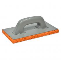 Купить Терка пластмассовая с оранжевой губкой 130х270мм 07-206