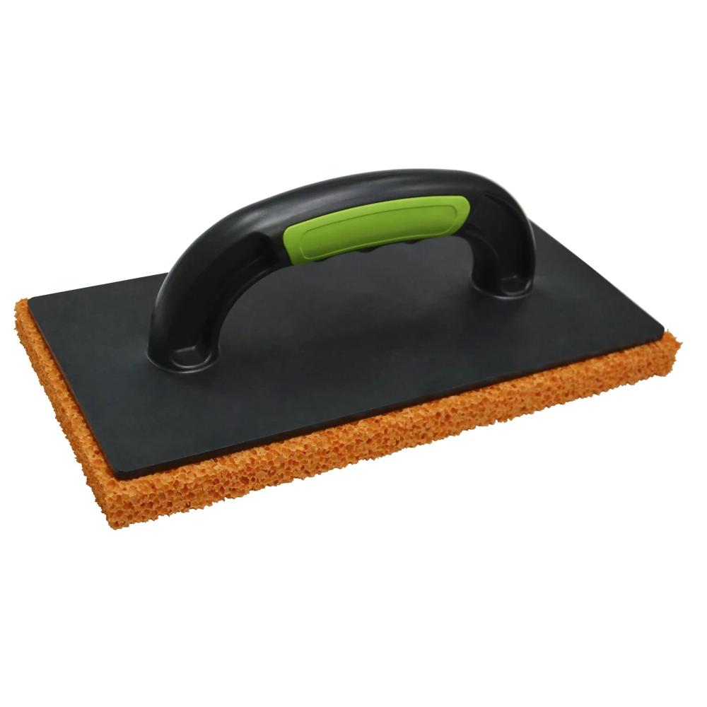 Купить Терка пластмассовая с мягкой оранжевой губкой 140x280 мм 07-217