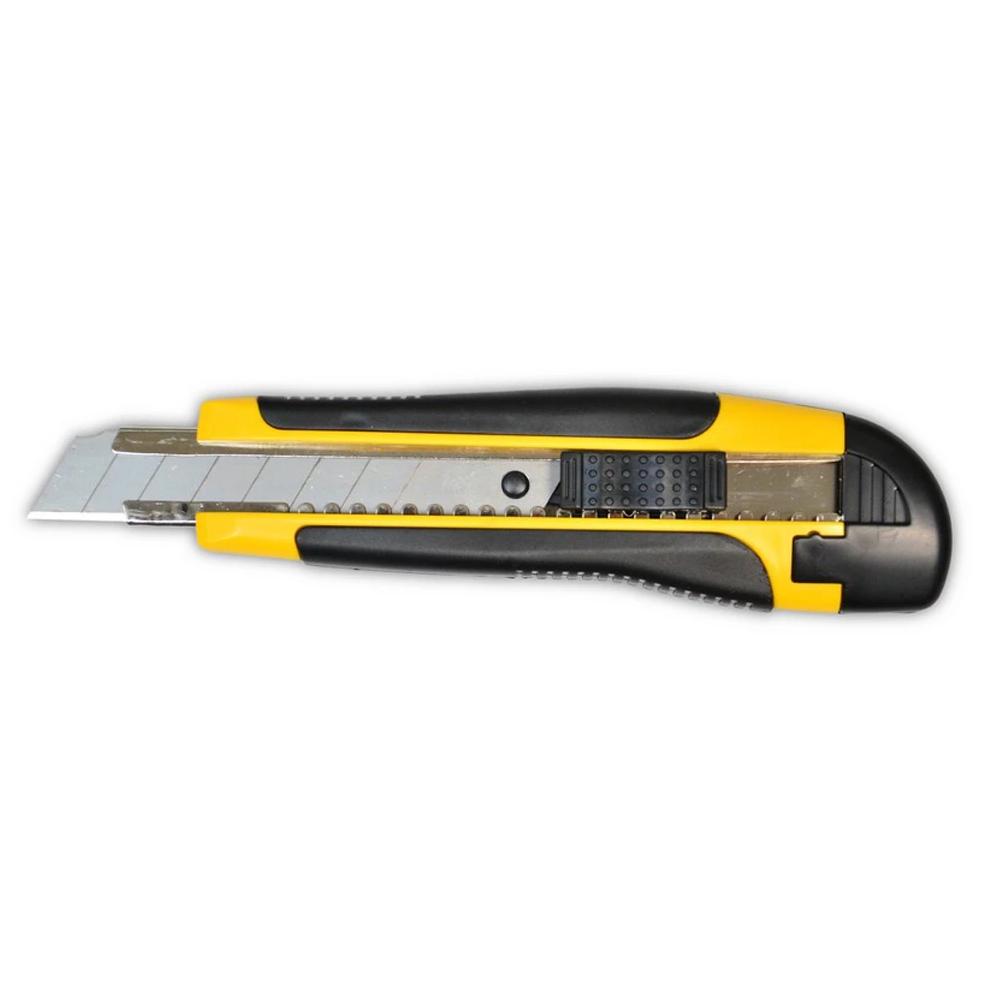 Купить Нож усиленный 18мм резиновая ручка 13-230