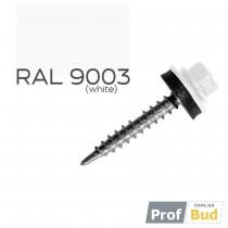 Купить Саморез со сверлом по дереву 4,8х35 мм RAL 9003 c EPDM шайбой, уп.(250 шт.)