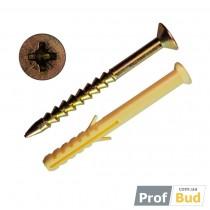 Купить Дюбель SMT-P6*60 ПОТАЙ забивной д/быстр.монтажа полипропил.бортик грибовидн. (уп-100шт)
