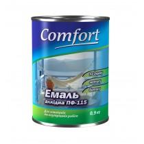 Купить Эмаль Comfort ПФ-115 темно-серая, 0,9 кг