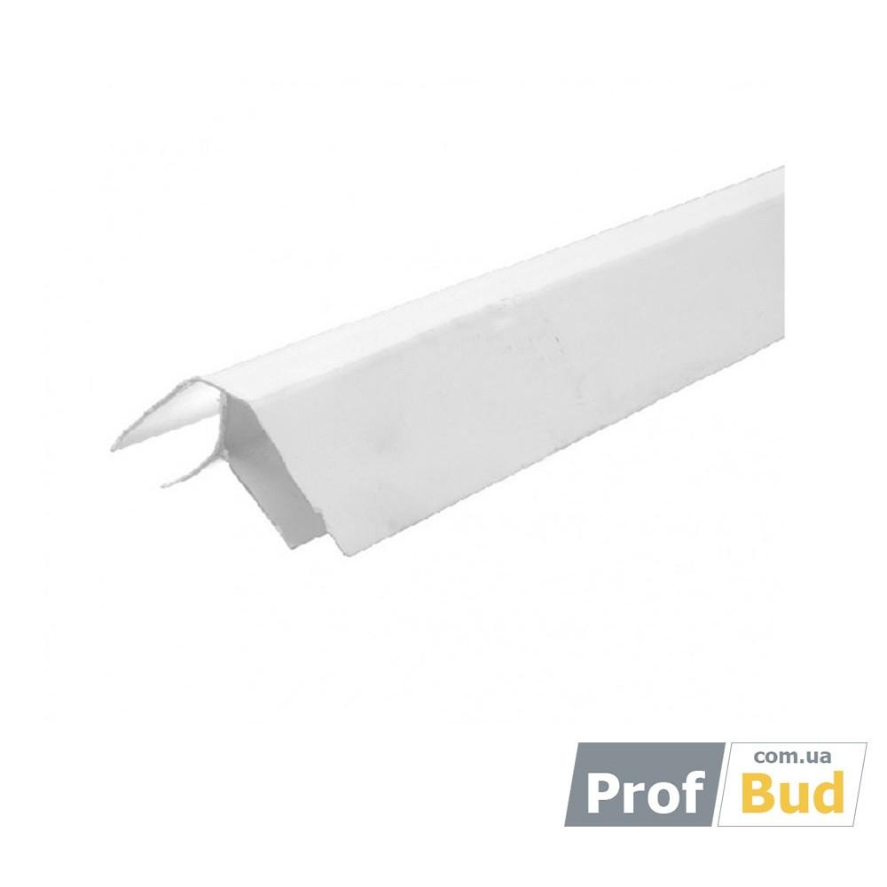 Купить Угол ПВХ внутренний белый 0,08*6м